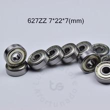 627ZZ 7*22*7(мм) 10 шт. подшипник ABEC-5 10 шт. металлический герметичный подшипник 627 ZZ хромированная сталь глубокий паз подшипник