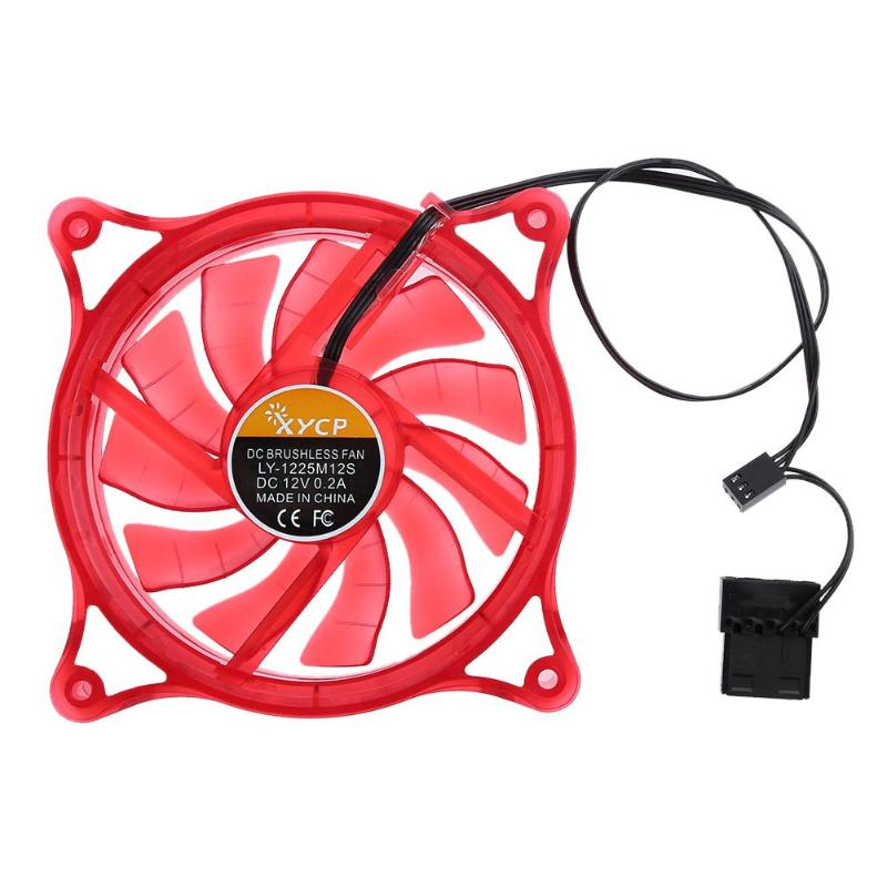 Desktop Mini Cooling Fan 12V LED Quiet RGB Mute Halo Ring Hydro Bearing Summer Cooler Fan for 120mm PC Computer Case CPU gdstime 10 pcs dc 12v 14025 pc case cooling fan 140mm x 25mm 14cm 2 wire 2pin connector computer 140x140x25mm