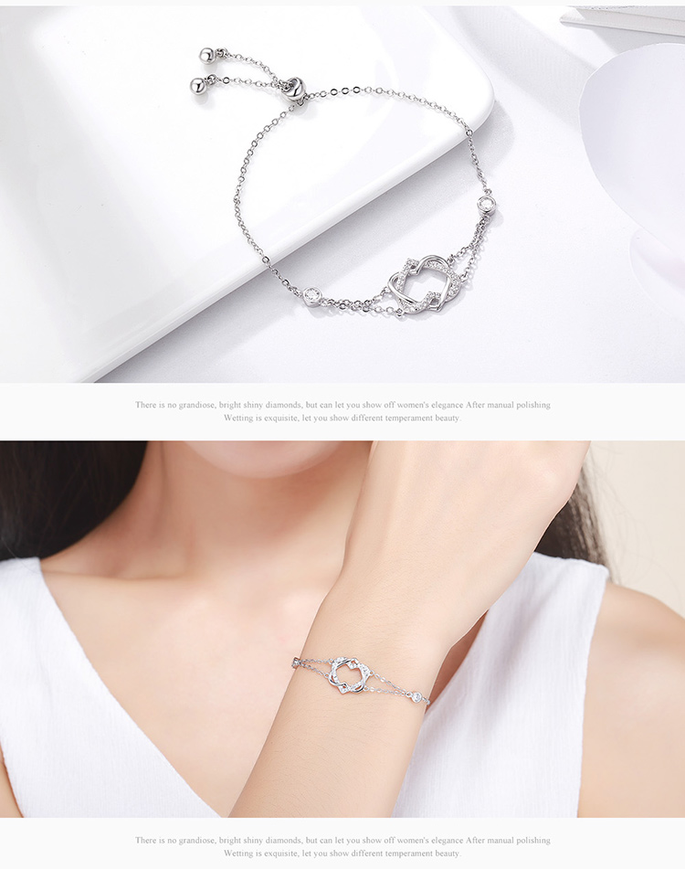 HTB1l4eDcLBNTKJjSszcq6zO2VXa3 925 Sterling Silver Sparkling Tennis Bracelet Chain Strand Bracelets for Women Luxury Original Sterling Silver Jewelry GXB029