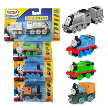 4pcs Original Thomas Strackmaster 1:43 Train Model Metal Cars Boy Gift Toys for Children Diecast Brinquedos Kids Education Car