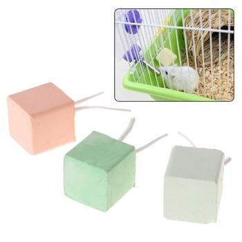 Chomik zęby kamień szlifierski mineralny wapń królik szczur wiewiórka zabawki Cube Hang tanie i dobre opinie Let's Pet 4n45799