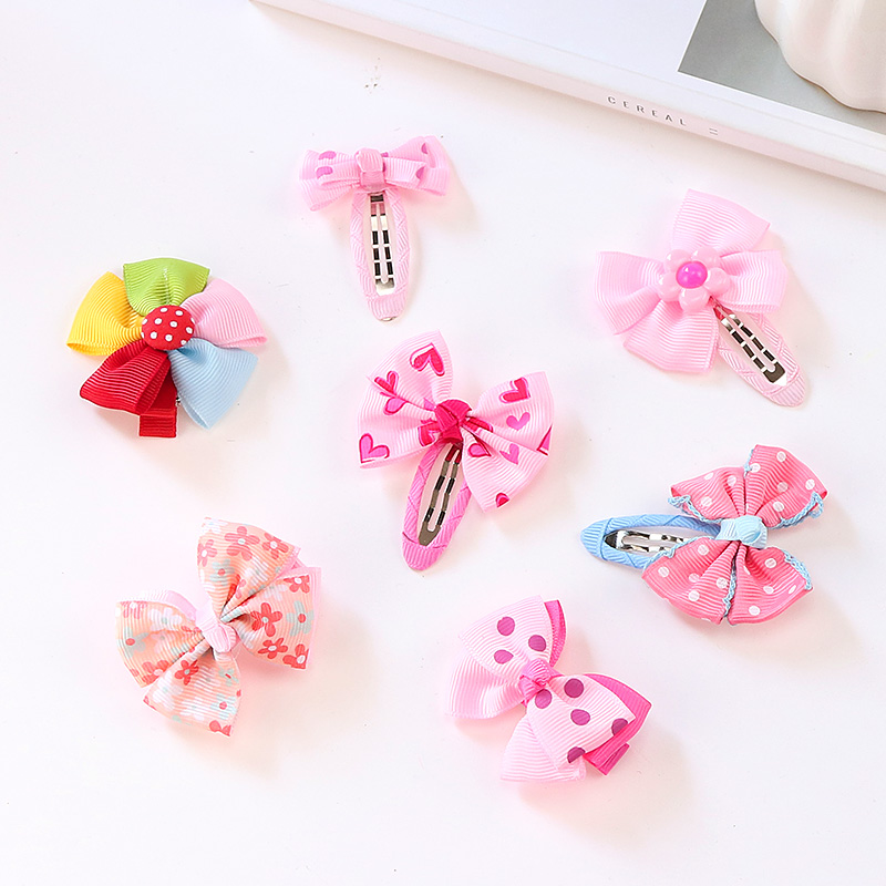 Wholesale 1PCS 28 Styles Cute Girls Colorful Flower Bow Hairpin Hair Accessories For Kids Hair Clip   Headwear   Barrettes Headbands
