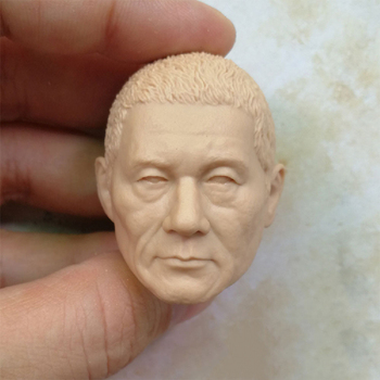 1/6 Kitano Takeshi Unpainted Head Practice Tools for 12''Bodies Figures image