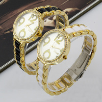 Watch Hot Sale Fashion Rhinestone Round Face Elegent Quartz Analog Lady Wrist Watch For Women Girls