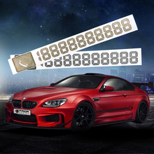 DIY Phone Number Cards Car Sticker Temporary Parking Card Parking Signs Notices Reflective Metal Car-Styling Auto Accessories