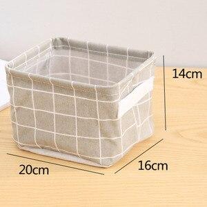 Image 3 - Bolsa de almacenamiento de celosía de ropa de estilo nórdico Organizador de armario plegable para almohada colcha manta bolsa de edredón