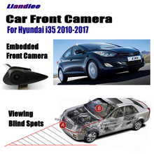 Liandlee AUTO CAM Car Front View Logo Embedded Camera For Hyundai I35 I-35 2010-2017 2013 ( Not Reverse Rear Parking Camera ) liandlee auto cam car front view logo embedded camera for hyundai accent solaris 2010 2017 not reverse rear parking camera