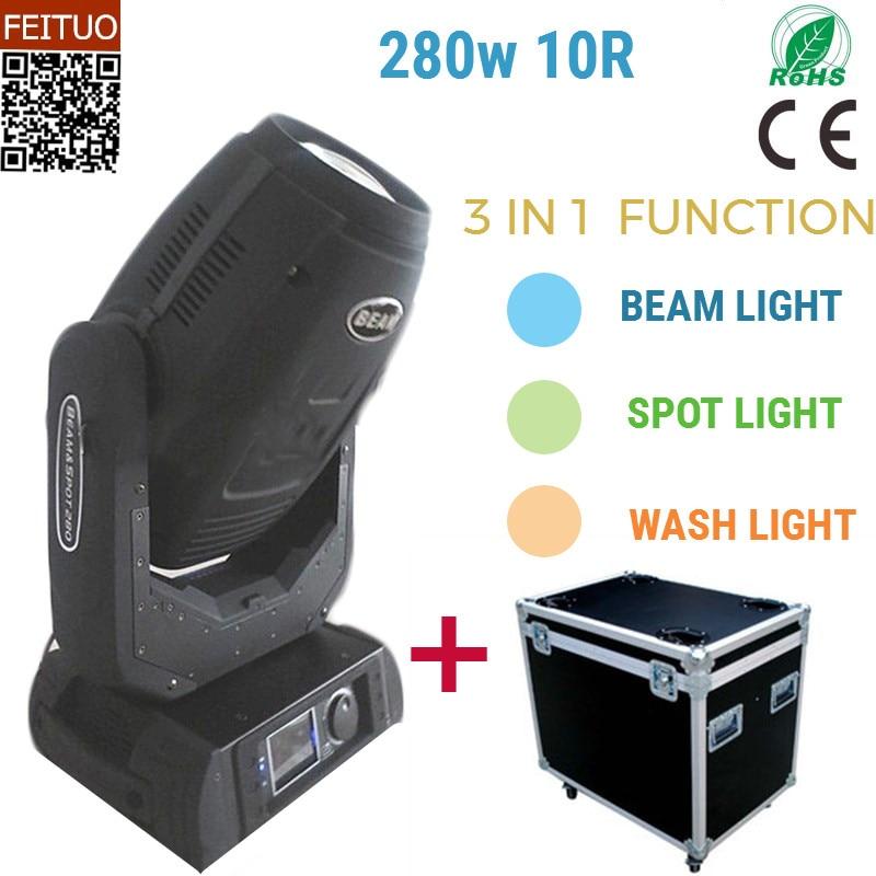 4pcslot flight case free shipping sharpy 280w moving head light 10r beam wash spot 3in1 Robe 280W dmx 10R dj stage light