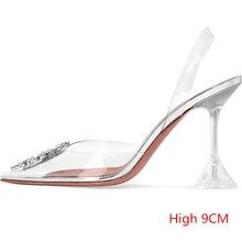 Entrega a logística dentro de 3 días Sandalias de tacón alto para mujeres 2019 novedad de verano sandalias decorativas de tacón bajo con diamantes de imitación