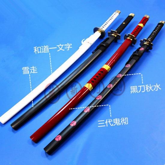 One Piece Roronoa Zoro Anime Cosplay Espada de madera cuchillo de - Decoración del hogar
