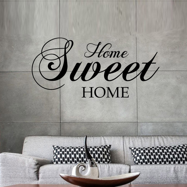 Home Sweet Home Wall Stickers Quote Removable Vinyl Wall Sticker Home Decor Living Room mural Bedroom Art Decals wallpaper EA036