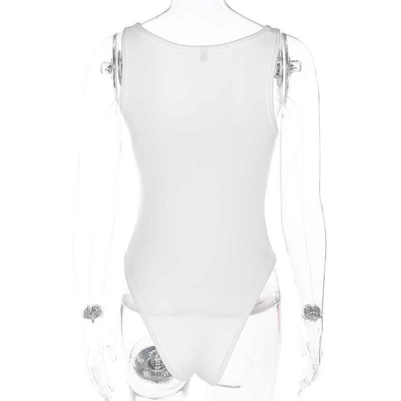 LORDXX Vrouwelijke Lichaam Zomer Bodysuit Vrouwen Wit Sexy Mouwloze Jumpsuit Korte 2018 Nieuwe mode nova kleding femenina
