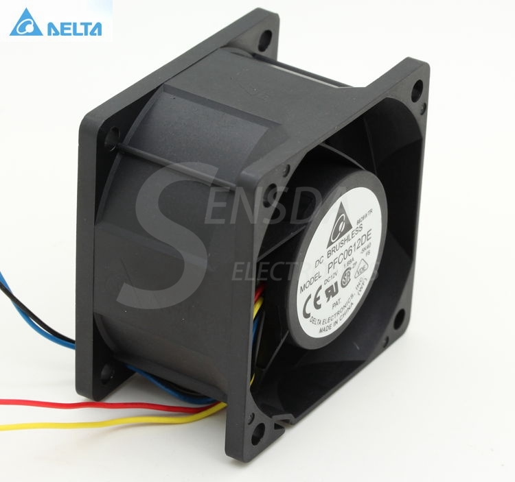 Delta PFC0612DE 6CM 60MM 6038 DC 12V 1.68A  server inverter Cooling FANs cpu cooler heatsink delta 12038 120mm 12cm ffb1212vhe dc 12v 1 5a 24w 4wire violence server industrial case cooling fans