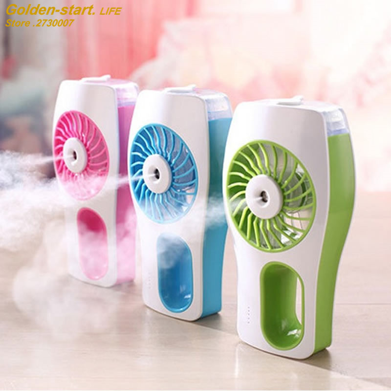 2017 Cooling Fan Humidifier Rechargeable USB 3 Colors Water Spray Fan Mist Cooler Water Diffuser Powerful USB Air Conditioner delta 12038 12v cooling fan afb1212ehe afb1212he afb1212hhe afb1212le afb1212she afb1212vhe afb1212me