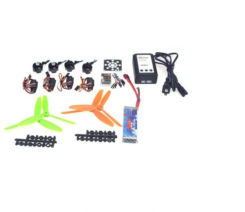 JMT RC Helicopter Kit KV2300 Brushless Motor+12A ESC+QQ Super Flight Control+FC 6x4.5 Propeller for 250 Helicopter