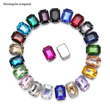 Top Quality Glitter Crystal Sew On Rhinestone With Claw Diy Colorful Dress Stones Glass Rhinestones For Clothing 50PCS/BAG