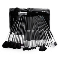25Pcs Makeup Brush Oval Cosmetic Brush Set Multipurpose Professional Foundation Powder Brush Kits With PU Leather