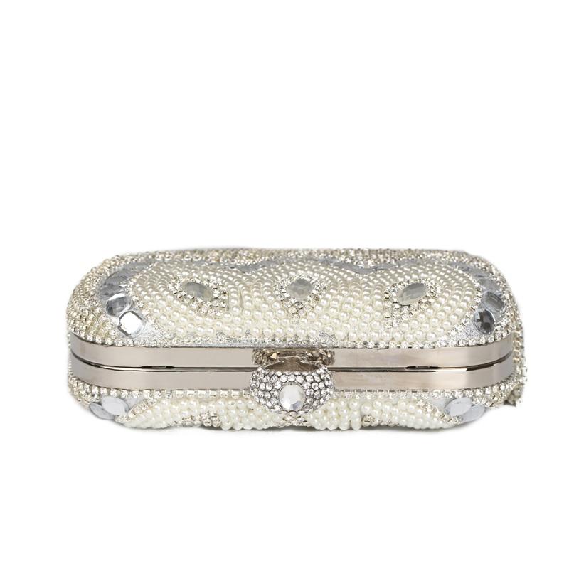 2017 mujeres anillo de diamantes borla de embrague embragues del día bolsos de t