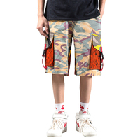 Tactical Camouflage Shorts Knee Length Men Streetwear Fashion Hip Hop Casual Stylish Shorts For Men Army Cargo Trousers Short