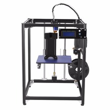 Newest 3D printer big size 245 X 218 X 320 Reprap black Aluminium corexy structure 3D printer Kit with 50g PLA Filament