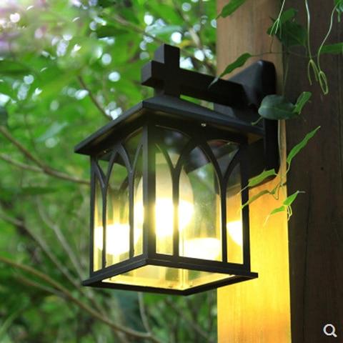 lampada europeu simples lampada de parede de vidro transparente a prova de agua ao ar