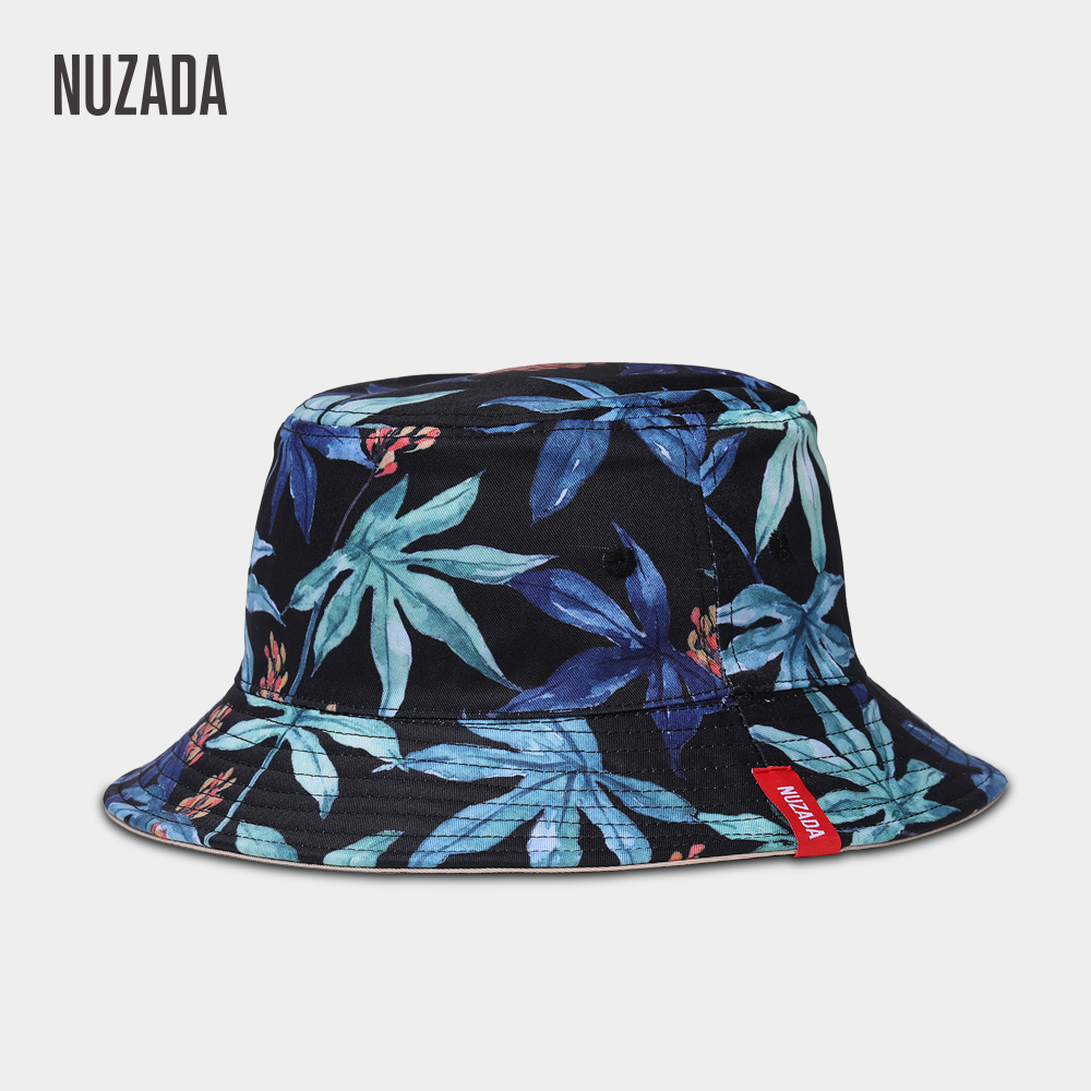 NUZADA Brand Printing Men Women Fisherman Hats Couple Bucket Hat Summer  Autumn Spring Shade Cotton Caps Double Sided Can Be Worn c4c16420975