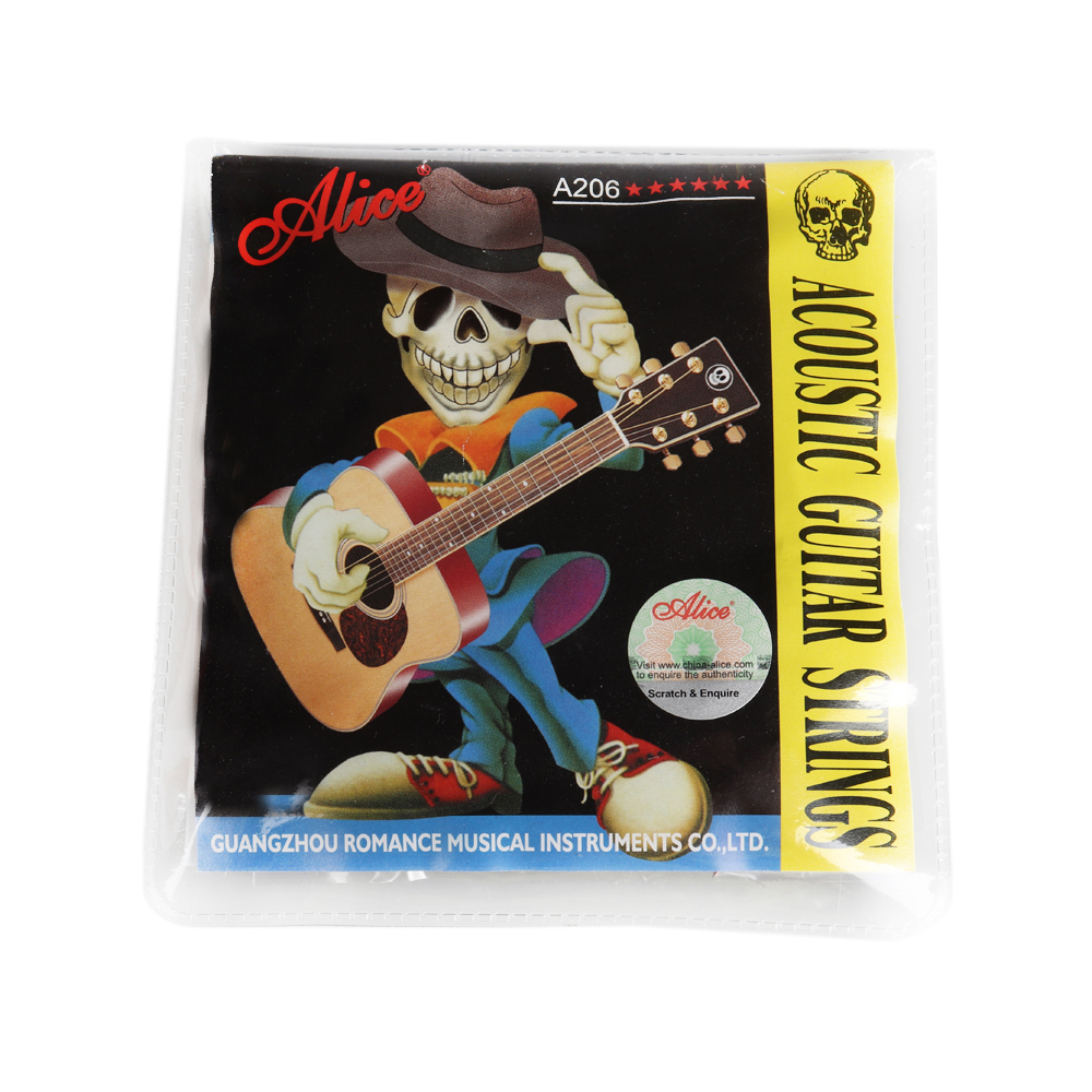 Alice Acoustic Guitar Strings 20 sets lot Wholesale A206 L Stainless Steel 6 Strings Set 012