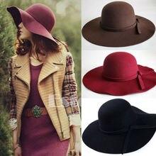 Женская кепка, Женская Классическая, Ретро стиль, джаз, теплая, для девушек, Fedora Bucket, хлопок, милая Кепка с широкими полями, топ, шляпа от солнца,, тренд, Винтаж