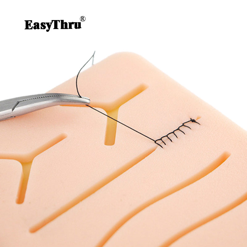 Surgical Skin Suture Practice Silicone Pad with Wound Simulated Skin Suture Module High Quality Surgical EquipmentSurgical Skin Suture Practice Silicone Pad with Wound Simulated Skin Suture Module High Quality Surgical Equipment