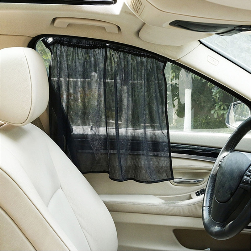 2Pcs Car Side Window Sun Shade Curtain Windshield Mesh  Blind Curtain Mosquito Dust Protection Automobiles Side Window Sunshades car window curtains legal