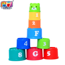 Excellent Baby Children Kids Educational font b Toy b font New building block Figures Letters Folding