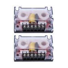 2 шт./компл. 200 Вт автомобильный 2-полосный аудио делитель частоты аудио динамик сабвуфер волновой фильтр делитель динамик автостайлинг