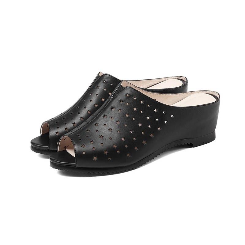 Verano Toe Mujeres Negro Tacones Moonmeek Negro Altos Mujer Aumento Genuino Beige Peep Cuero beige De Sandalias Altura Zapatos Moda xqtFH0Fwz