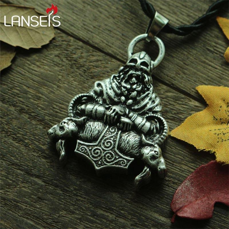 lanseis 1pc slavic pendant men nekclace viking jewlry
