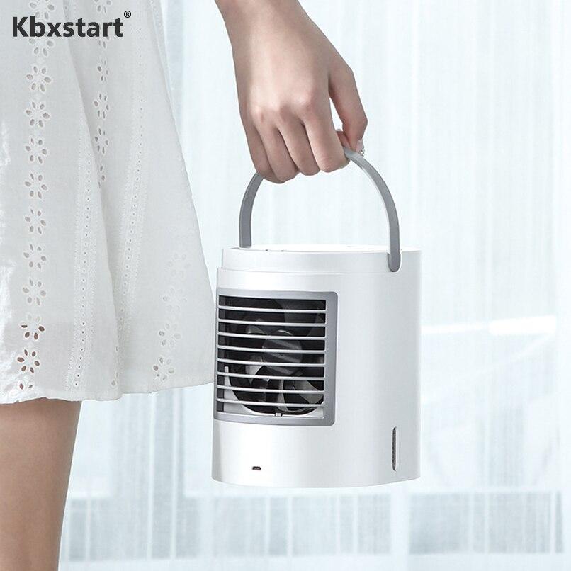 Kbxstart Mini Portable climatiseur ventilateur USB charge humidificateur purificateur veilleuse bureau Air ventilateur de refroidissement pour bureau maison