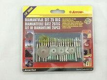 ФОТО 25pc polished tool set with 18 pc 3mm 1/8
