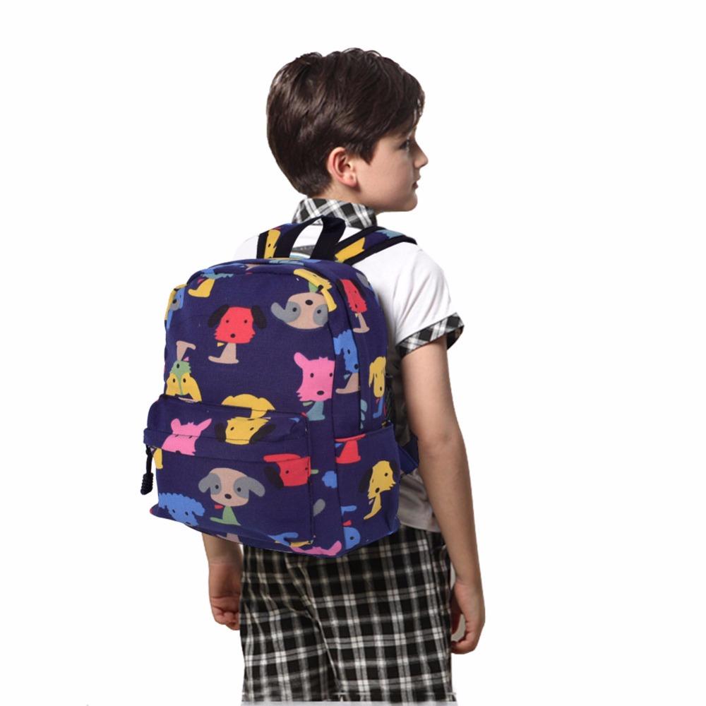 3d3b1f1c44c1 Klsyanyo Age 1 3 Kids Kindergarten Cute Canvas School Bag Pattern Backpacks  Kids Girl Mini Rucksack Bookbag -in School Bags from Luggage   Bags on ...