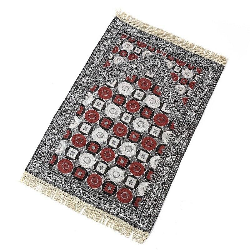 Image 3 - Geometric Pattern Thin Travelling Islamic Muslim Prayer Mat  Blanket Worship Salat Musallah Banheiro Prayer Rug Carpet TapeteMat