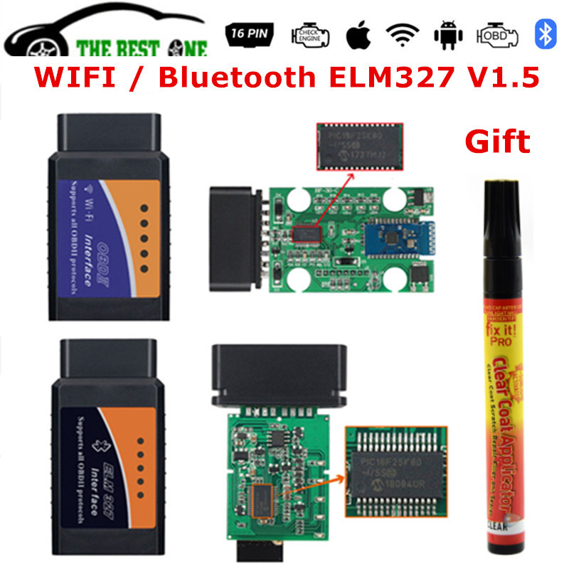 Car-Diagnostic-Tool ELM-327 Obdii-Scanner OBD2 Bluetooth Best-Wifi Android/pc Real-25k80