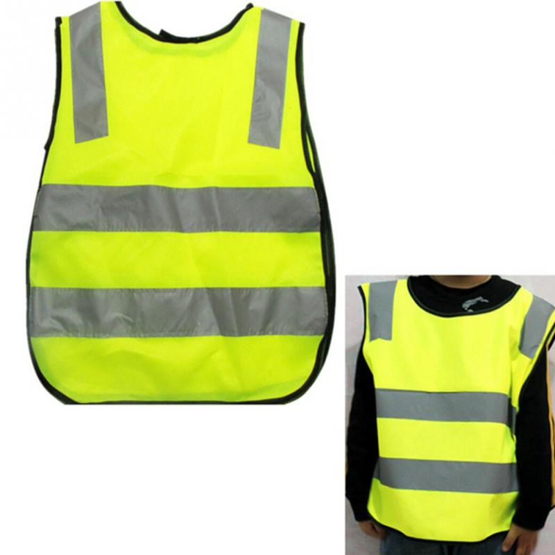 2019 New Children Traffic Safety Vest Yellow Visibility Waistcoat Kids Childs Jackets Reflective Safety Clothing