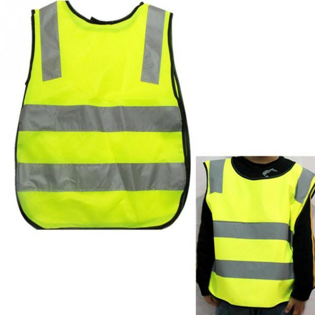 2019 neue Kinder Verkehrs Sicherheit Weste Gelb Sichtbarkeit Weste Kinder Childs Jacken Reflektierende Sicherheits Kleidung