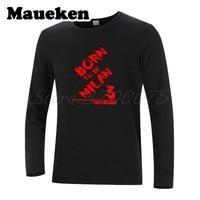 Men Autumn Winter Born to be Milan Legend Captain Paolo Maldini T Shirt Long Sleeve Tees T SHIRT Mens Fashion W1101107