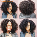 Synthetic Wigs for Black Women Kinky Curly Afro Wig Long Black African American Cheap Hair for Women Hot Sale