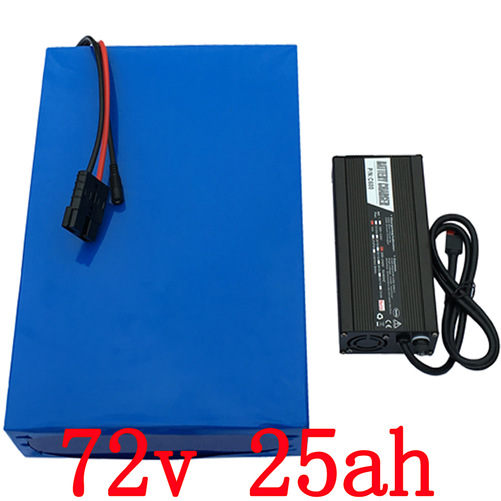 Free customs tax  72v 25Ah 1500w electric bike Lithium  Battery 72v with 84v Charger Built in 30A BMS Free Shipping free customs taxes 1000w motor electric bike lithium ion battery 48v 25ah with 54 6v charger and bms factory price great quality