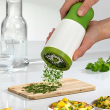 New Herb Grinder Spice Mill Parsley Shredder Chopper Fruit Vegetable Cutter Potato Peeler Carrot Shred Cooking Cheese Grater(China)