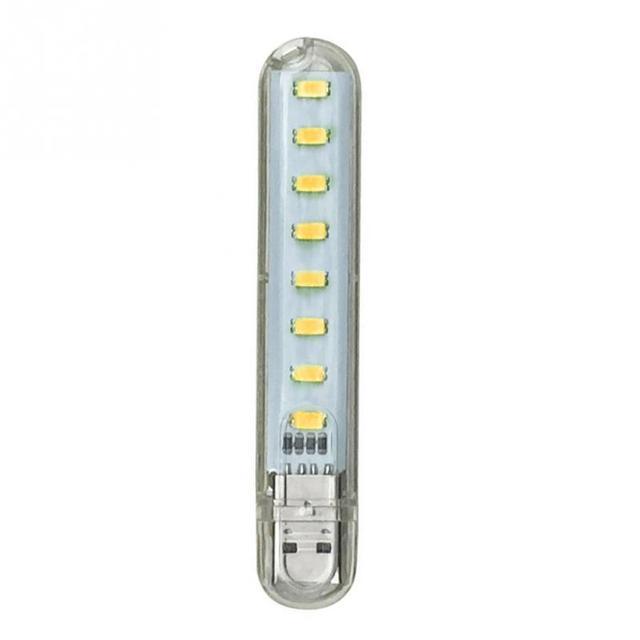 1PCS Portable Mini USB light Power 8 LEDs Night Light led Lamp white warm white For Power Bank Computer Laptop