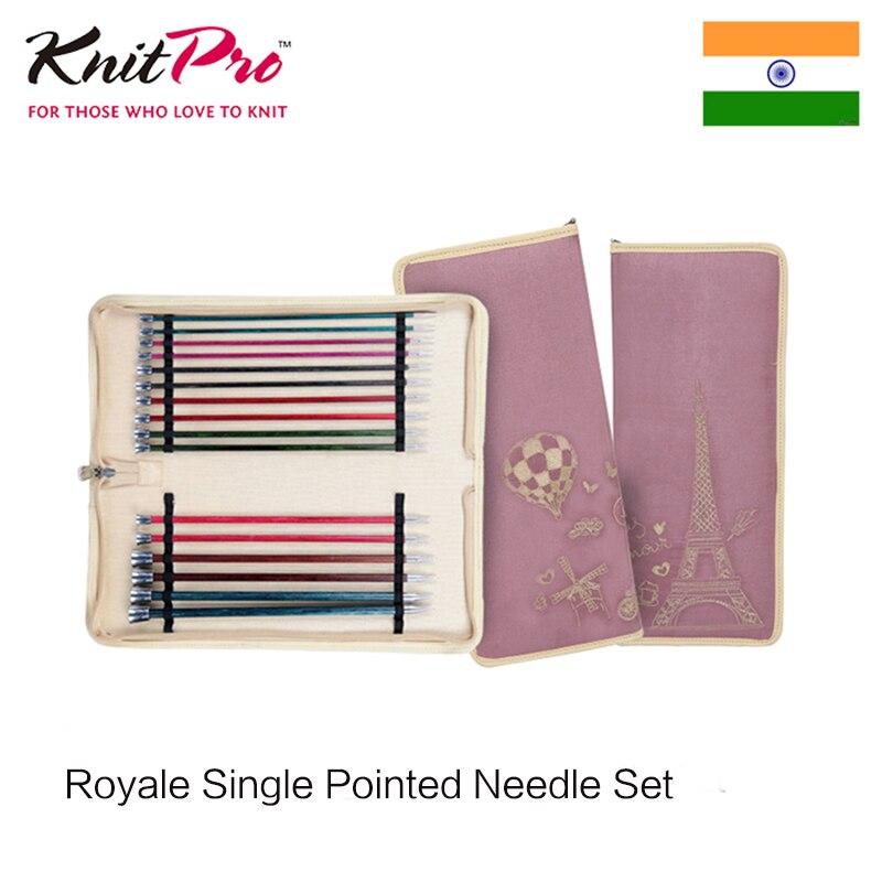 Knitpro royale singe 뾰족한 바늘 세트-에서재봉 기계 & 액세사리부터 홈 & 가든 의  그룹 1