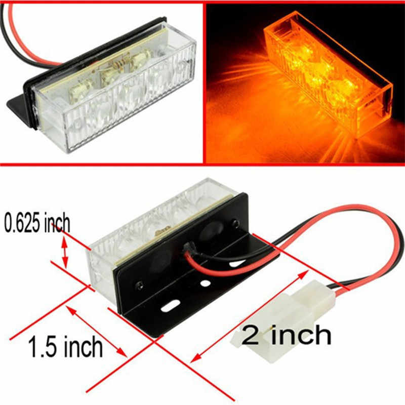 Car Styling Accessories LED Strobe Flash Warning Light Driving Running Lamp For Toyota Corolla VW BMW Audi Buick Chevy GMC Ford