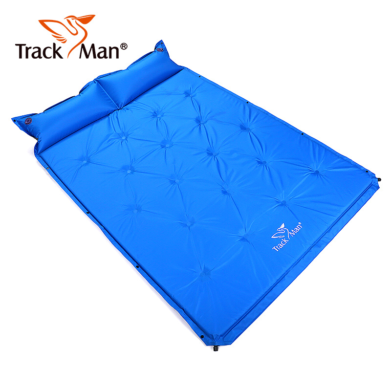 2 Person Portable Self Inflating Camping Mats Outdoor Sleeping Pad with Attached Pillow for Camping Backpacking