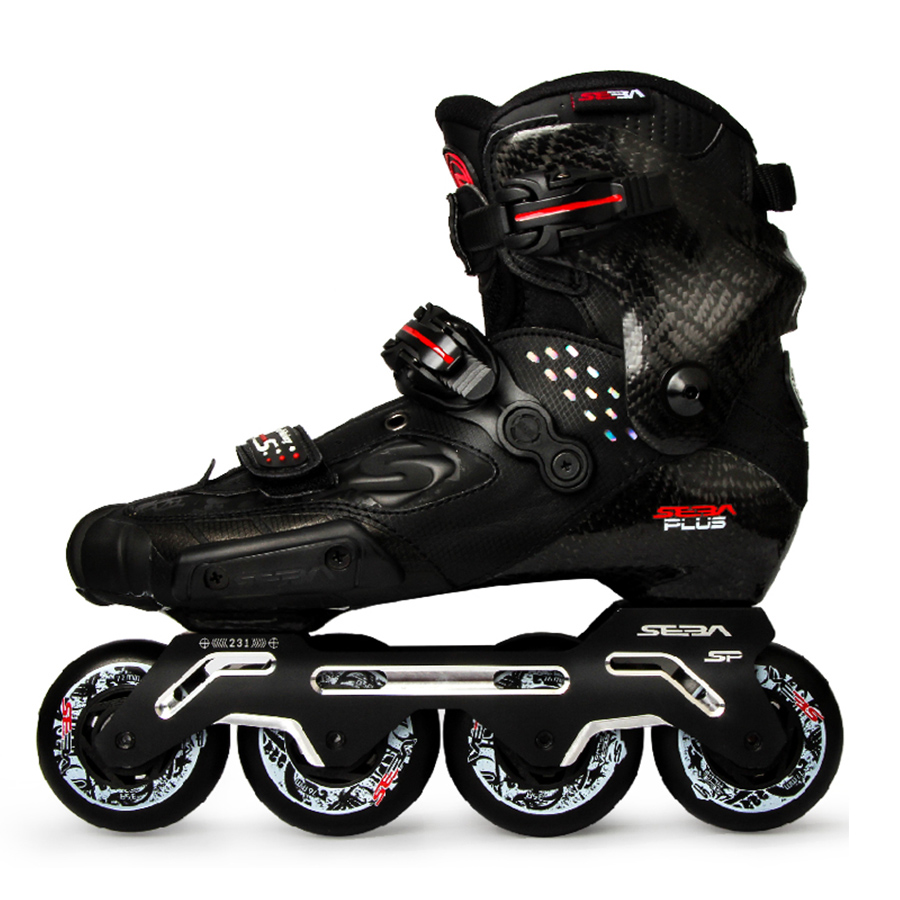100 Original 2019 Newest SEBA S Slide Professional Adult Inline Skates Carbon Fiber Shoes Slalom Sliding